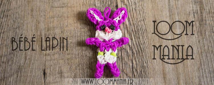 Bébé Lapin en élastiques - Rainbow Loom