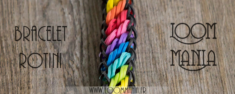 Bracelet Rotini en élastiques - Rainbow Loom
