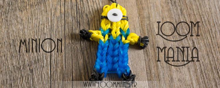 Minion en élastiques - Rainbow Loom