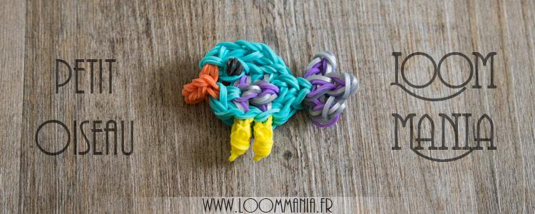 Petit Oiseau en élastiques - Rainbow Loom