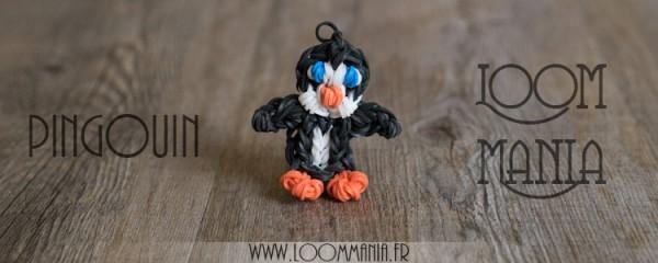Pingouin en élastiques - Rainbow Loom
