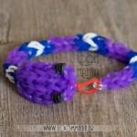 Serpent en élastiques - Version bracelet violet