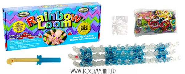 Rainbow Loom officiel - Kit de démarrage (métier à tisser, élastiques, crochet métal)